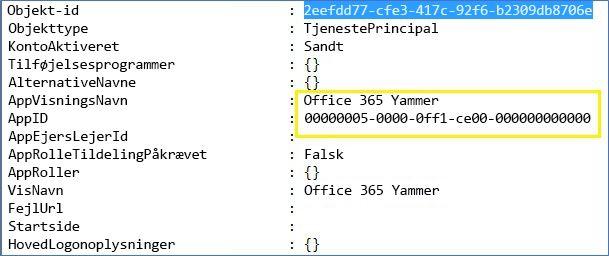 Eksempel på output til en tekstfil