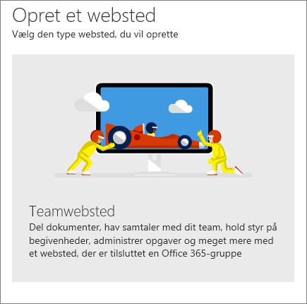 SharePoint Office 365 Opret et websted