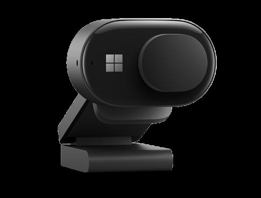 Microsoft Modern Webcam med udløseren til beskyttelse af personlige oplysninger, der dækker kameralinsen