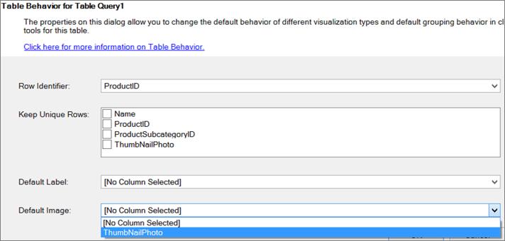 Indstilling af tabelfunktionsmåde