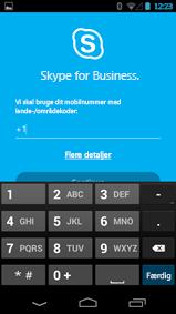 Skærmbillede af vindue, hvor du angiver det nummer, der skal ringes tilbage til på en Android-telefon
