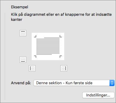 Eksempelfeltet i dialogboksen Kanter og skygge er vist