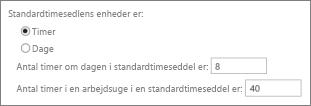 Standard rapporteringsenheder