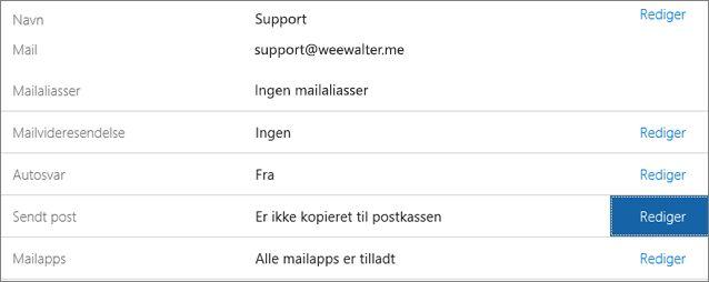 Vælg Sendt post > Rediger.