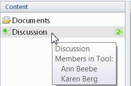 Tilstedeværelsesstatus for et værktøj i et Groove-arbejdsområde