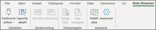 Excel Data Streamer båndfane