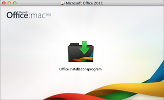 Image of the Office for Mac install icon that you choose to start to install.