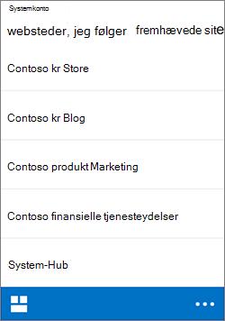 iOS efter websteder
