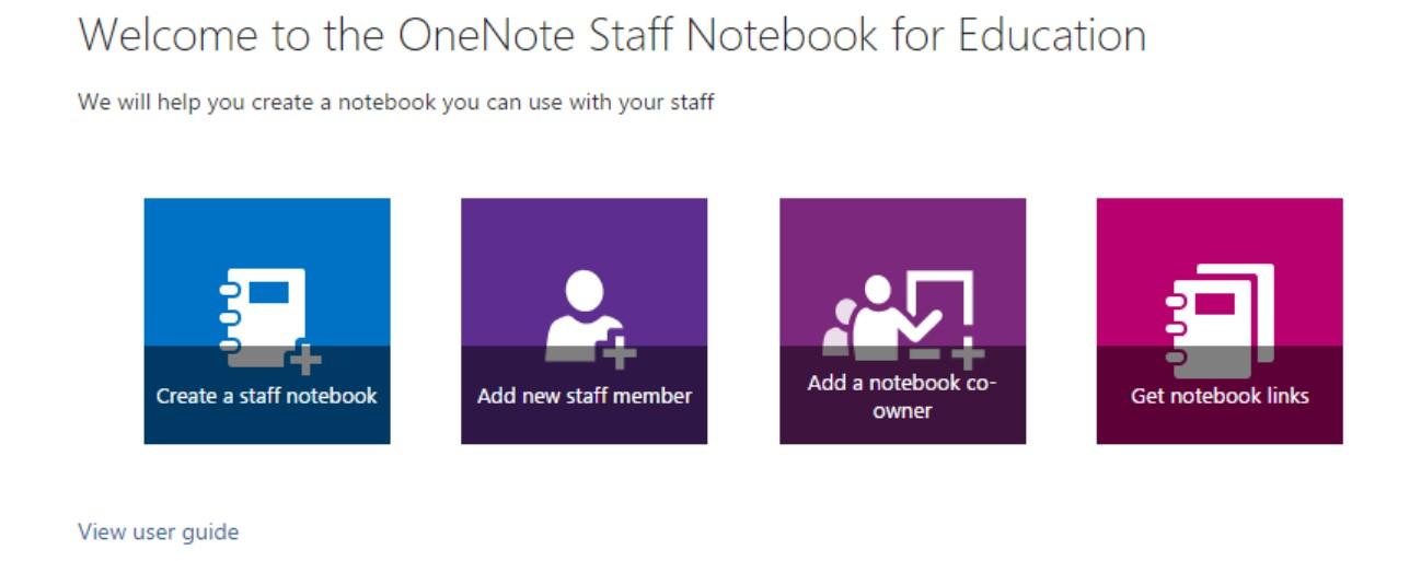 Velkommen til oprettelse af Staff Notebook.