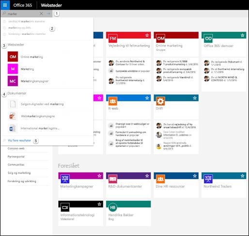 Søg i Office 365