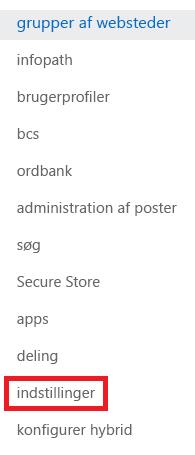 Skærmbillede af opgaveruden Grupper af websteder