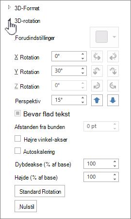 egenskaber for 3D-rotation