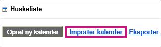 Google Calendar-opgaver – importere kalender