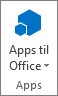Knappen Apps til Office