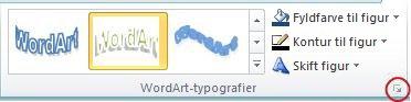 Dialogboksstarteren WordArt-typografier