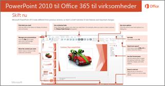 Miniaturebillede af vejledning til at skifte fra PowerPoint 2010 til Office 365