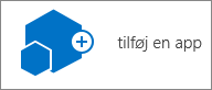 Ikonet Tilføj en app i dialogboksen Webstedsindhold.