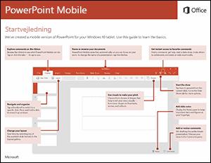 Startvejledning til PowerPoint Mobile