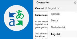 Læs mail i Outlook på dit foretrukne sprog