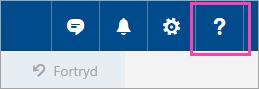 Et skærmbillede af knappen Hjælp
