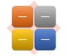 SmartArt-grafiklayoutet Grundlæggende matrix