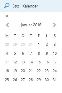 Søgefeltet Kalender
