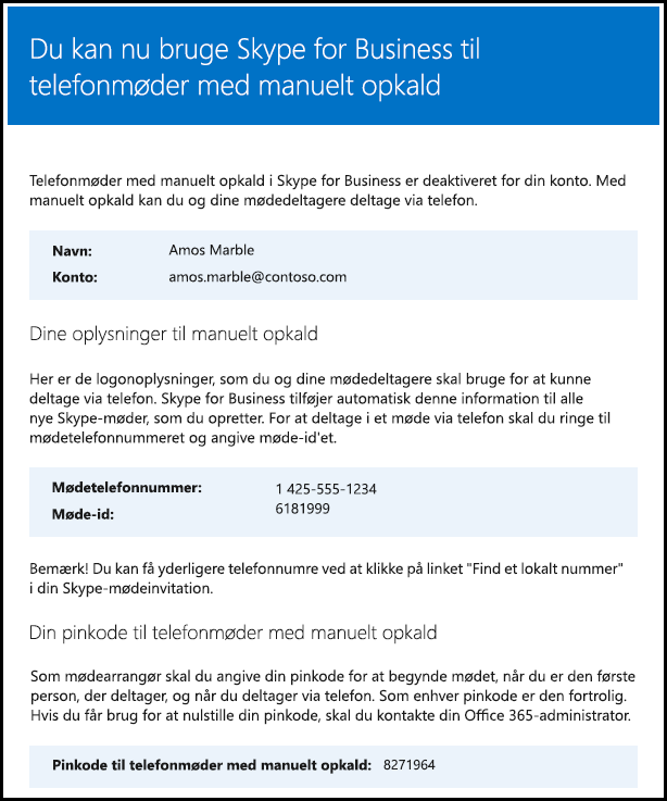 Bekræfte licens til Skype for Business
