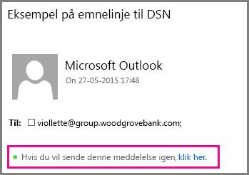 Linket Send meddelelsen igen i Outlook Web App
