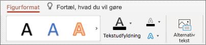 Knappen Alternativ tekst på båndet til en figur i PowerPoint til Mac.