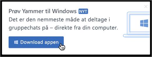 Beskeder i produkt til Windows