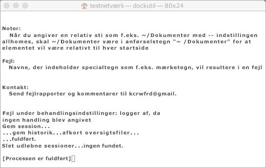 Kør værktøjet Dockutil vha. Ctrl + Click for at åbne.