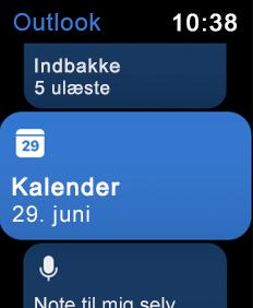 Viser Apple Watch-skærmen