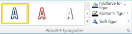 WordArt-typografier i Publisher 2010