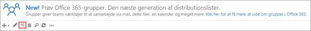 Klik eller tryk på ikonet Opgrade til Office 365-grupper