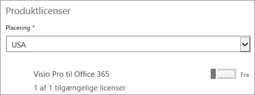 Fjern en brugerlicens for en enkelt bruger.