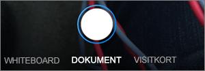 Scan indstillinger for OneDrive til iOS