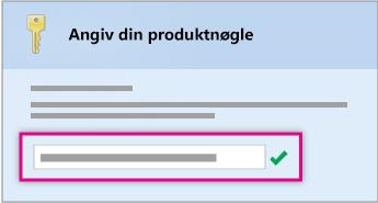 Angiv produktnøgle