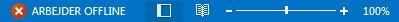 Indikatoren Arbejder offline på statuslinjen i Outlook