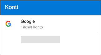 Outlook til Android kan automatisk at finde din Gmail-konto.