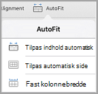 indstillinger for Autotilpas iPad