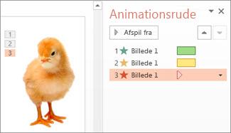 Anvend flere animationer på ét objekt