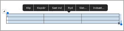 iPad tabel kommandolinje