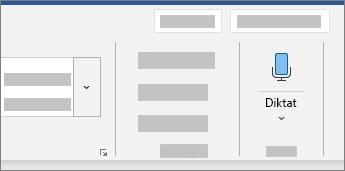Viser Dikter-brugergrænsefladen i Word