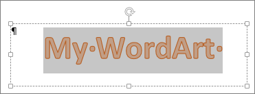 Markeret WordArt