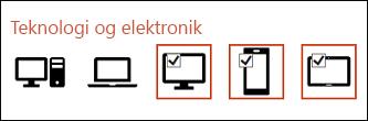 Du kan indsætte flere ikoner ved at klikke på dem enkeltvis.