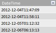 DateTime-kolonne i en faktatabel.