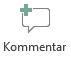 Knappen Indsæt kommentar i PowerPoint Online