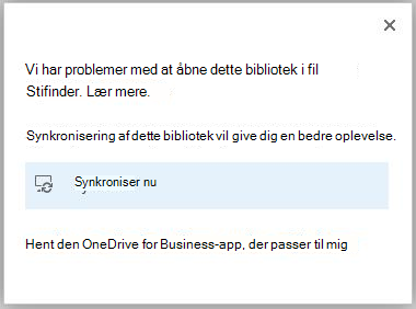 oplever problemer