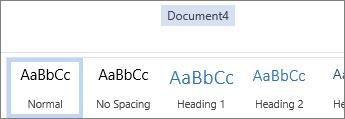 Omdøbe i Office Online