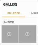 En krypteret billedfil i appen Galleri.